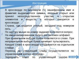 Инструкция В кроссворде по вертикали (1) зашифрованы имя и фамилия выдающегос