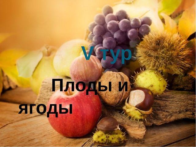V тур Плоды и ягоды