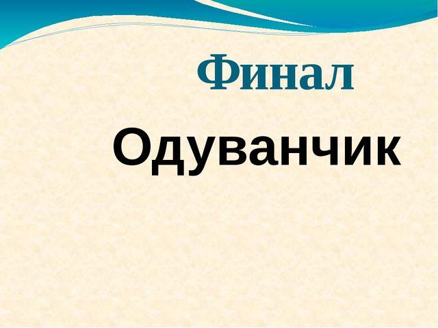 Финал Одуванчик