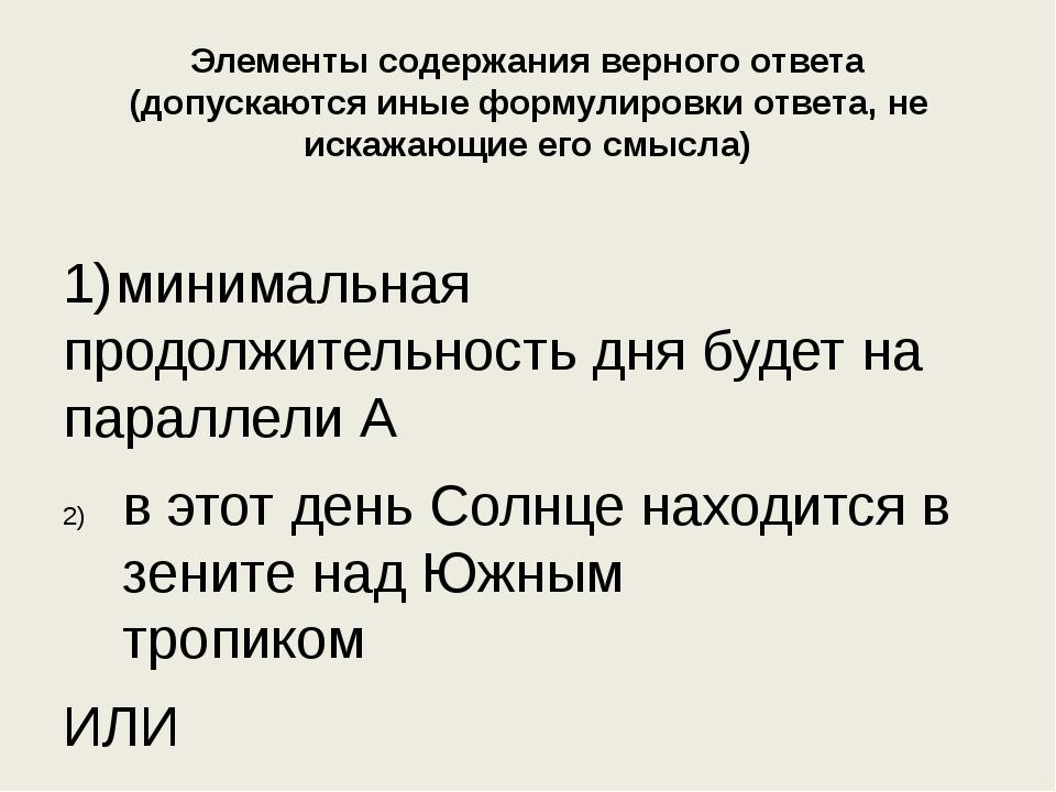 Элементы содержания верного ответа (допускаются иные формулировки ответа, не...