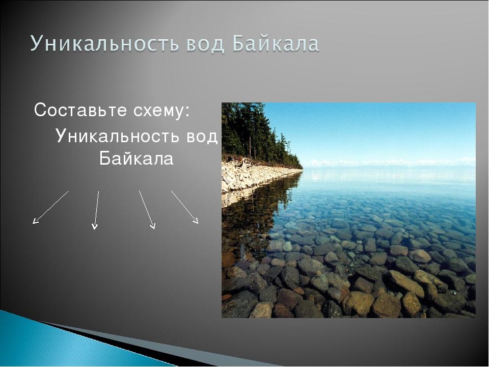 Составьте схему: Уникальность вод Байкала