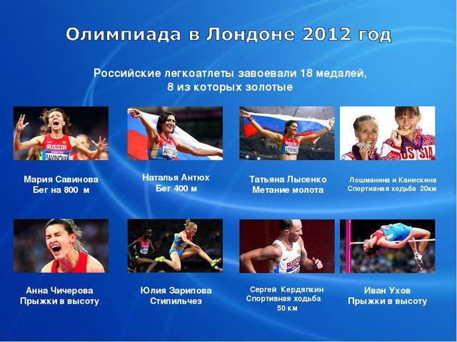 Российские легкоатлеты завоевали 18 медалей, 8 из которых золотые Мария Савин...