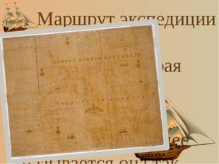 "Маршрут экспедиции показан на ""карте Бонапарта"", которая хранится в Митчелло"