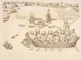 Здесь состоялась встреча с маори, которые вышли к кораблям на острых каноэ. С