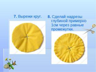8. Сделай надрезы глубиной примерно 1смчерез равные промежутки. 7. Вырежи кр