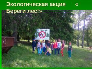 Экологическая акция « Береги лес!»