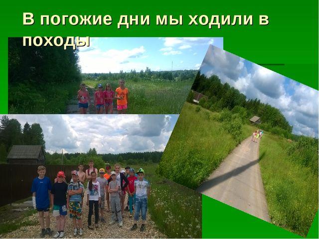 В погожие дни мы ходили в походы