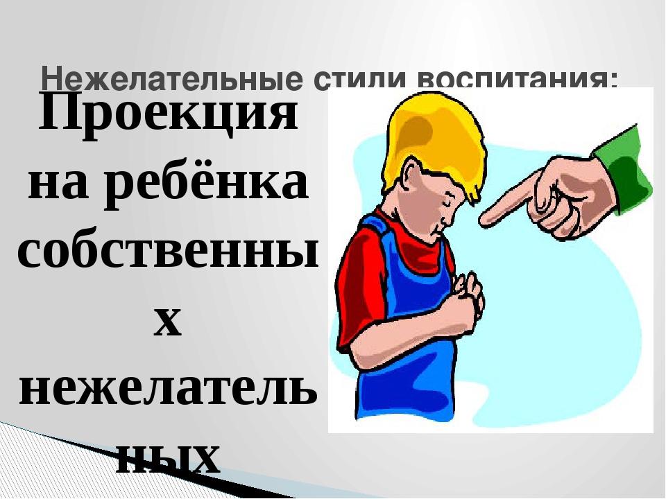 Проекция на ребёнка собственных нежелательных качеств. Родители уверяют ребён...