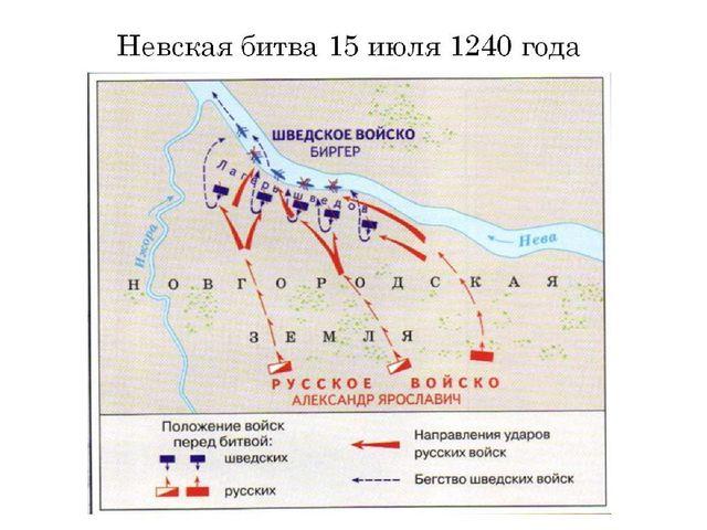 Невская битва 15 июля 1240 года