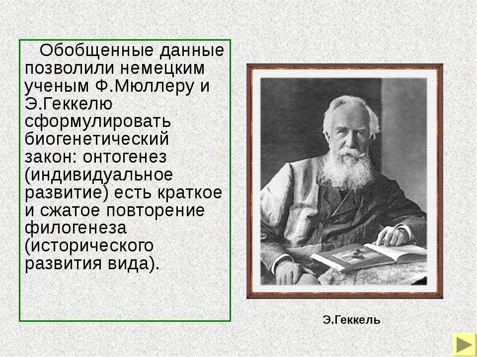 Биогенетический закон был развит и уточнен российским ученым А.Н.Северцовым,...