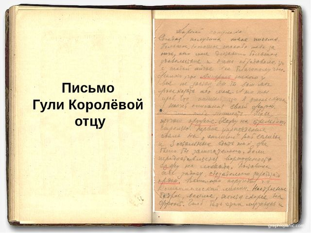 Письмо Гули Королёвой отцу