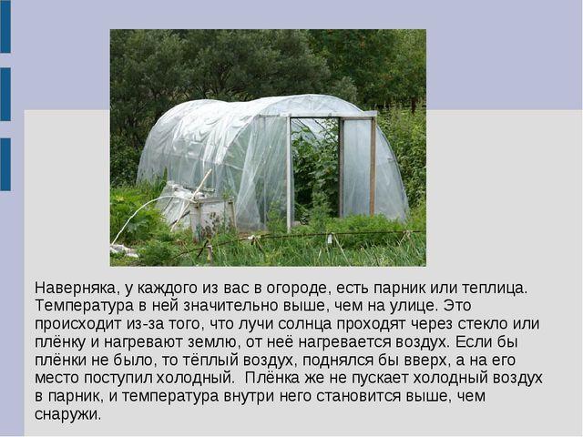 Наверняка, у каждого из вас в огороде, есть парник или теплица. Температура в...