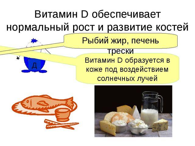 Витамин D обеспечивает нормальный рост и развитие костей Д Витамин D образует...