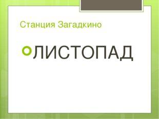 Станция Загадкино ЛИСТОПАД