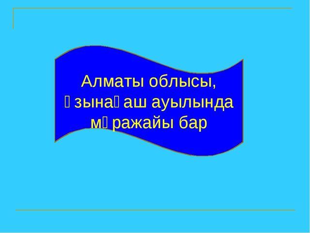 Алматы облысы, Ұзынағаш ауылында мұражайы бар