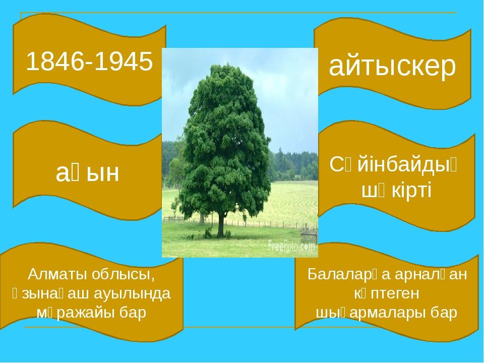 1846-1945 айтыскер Алматы облысы, Ұзынағаш ауылында мұражайы бар ақын Сүйінба...