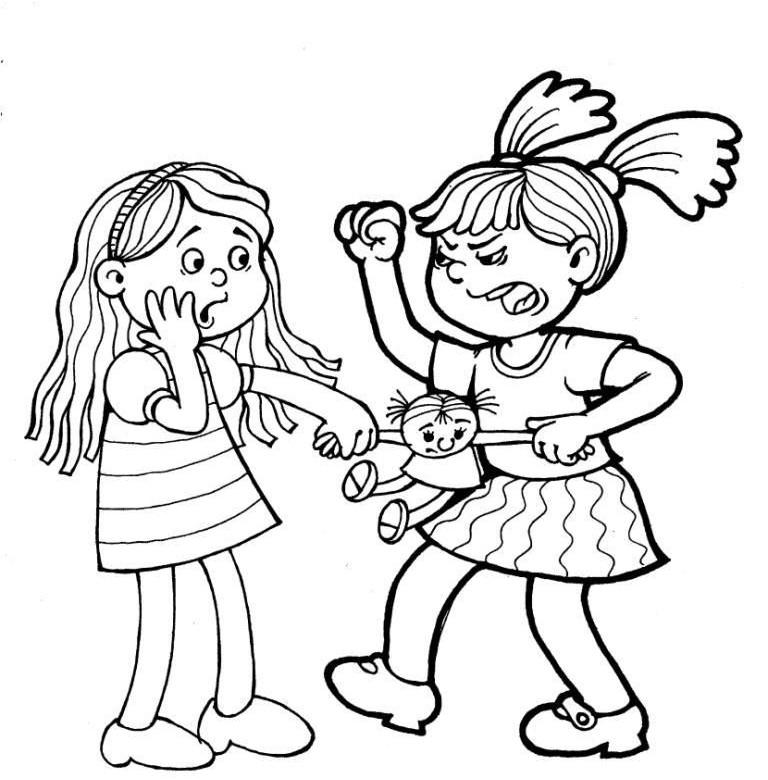 Раскраски плохие поступки детей 67