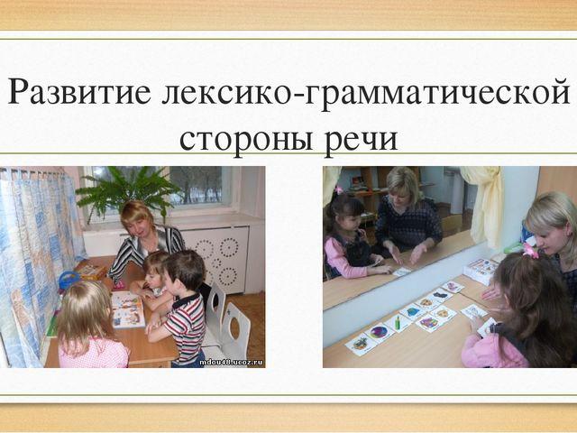 Развитие лексико-грамматической стороны речи