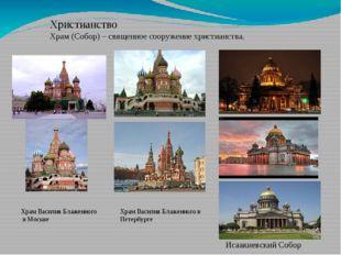 Христианство Храм (Собор) – священное сооружение христианства. Храм Василия Б