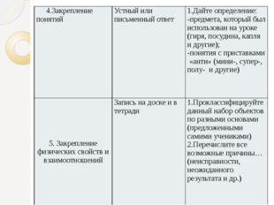 4.Закрепление понятий Устный или письменный ответ 1.Дайте определение: -пред