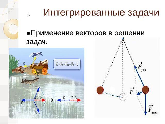 Интегрированные задачи ●Применение векторов в решении задач.