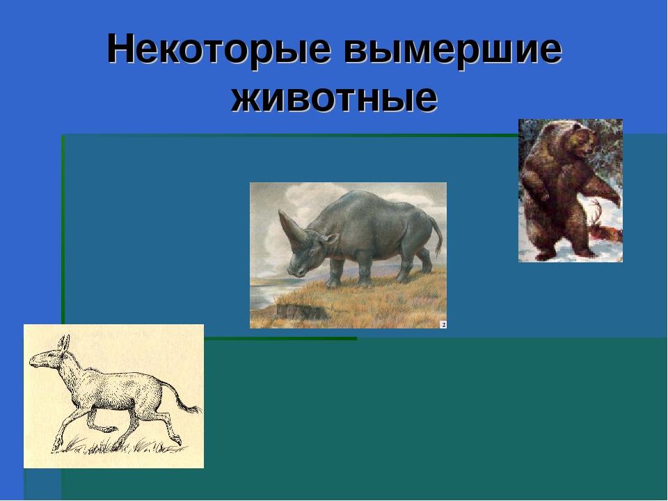 Некоторые вымершие животные