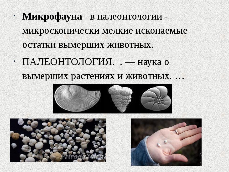 Микрофауна в палеонтологии - микроскопически мелкие ископаемые остатки вымер...