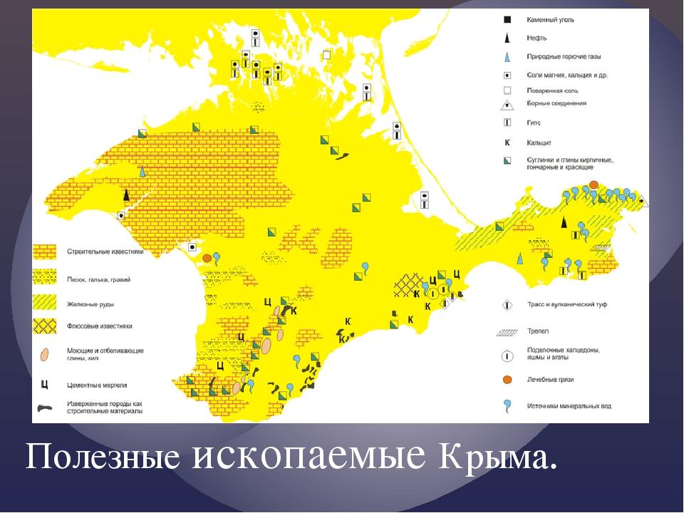 Полезные ископаемые Крыма.