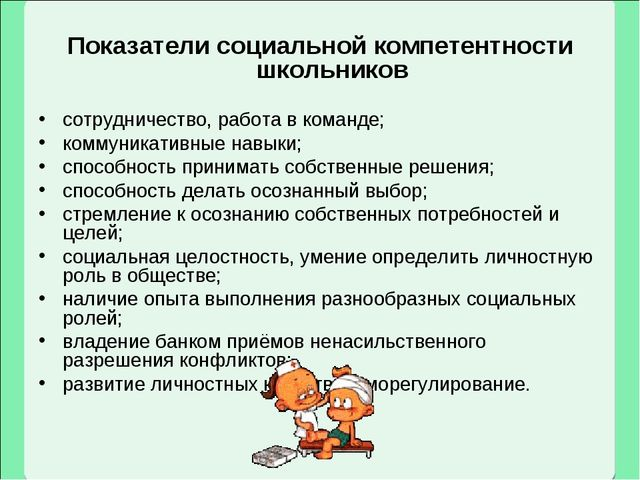 Показатели социальной компетентности школьников сотрудничество, работа в кома...
