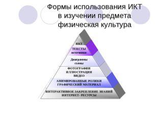 Формы использования ИКТ в изучении предмета физическая культура