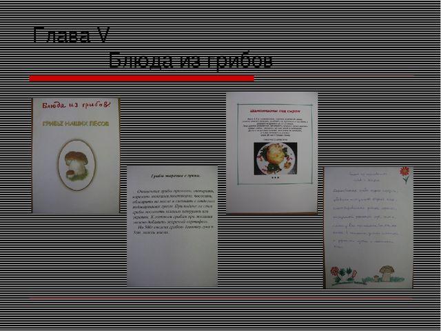 Глава V Блюда из грибов