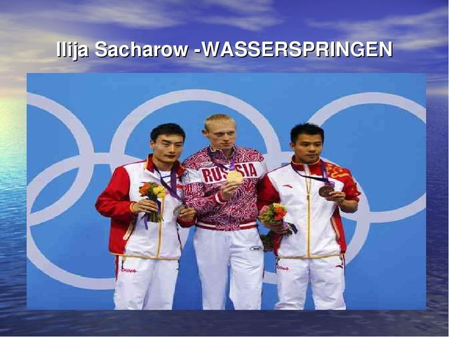 Ilija Sacharow -WASSERSPRINGEN