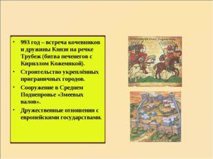 993 год – встреча кочевников и дружины Князя на речке Трубеж (битва печенегов