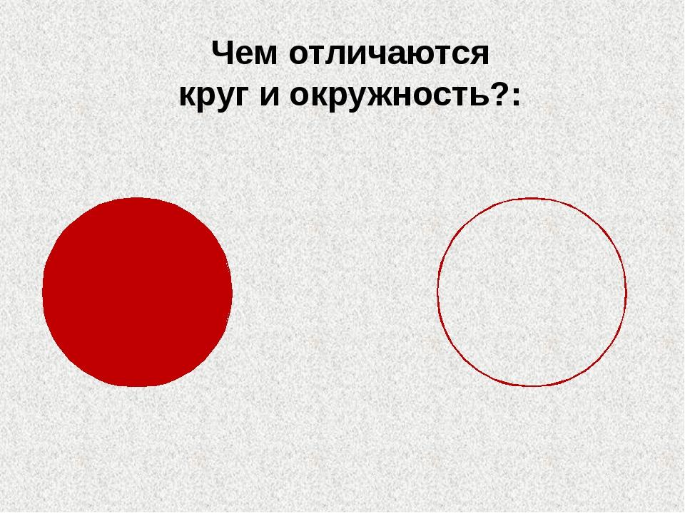 Чем отличаются круг и окружность?:
