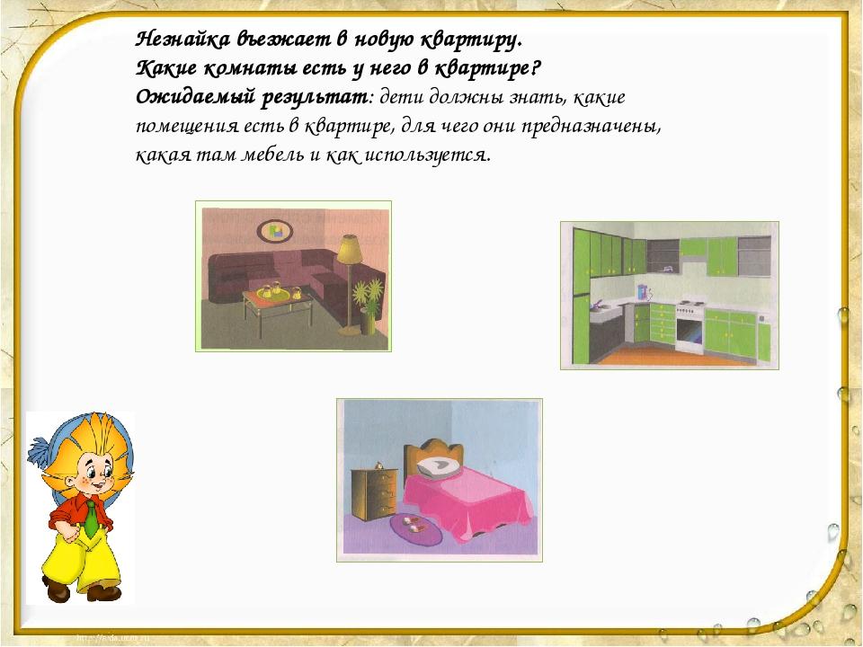 Незнайка въезжает в новую квартиру. Какие комнаты есть у него в квартире? Ож...