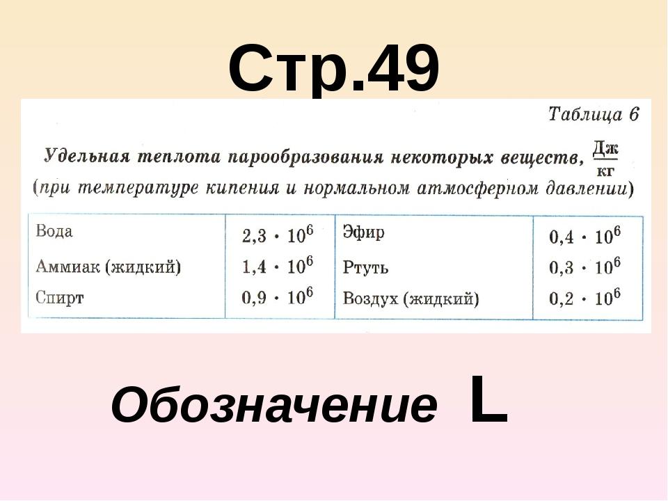 Стр.49 Обозначение L