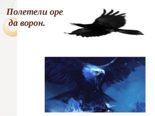 Полетели орел да ворон.