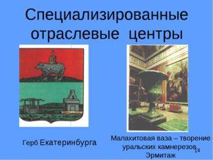 Специализированные отраслевые центры Герб Екатеринбурга Малахитовая ваза – т