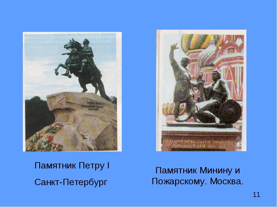 Памятник Петру I Санкт-Петербург Памятник Минину и Пожарскому. Москва.