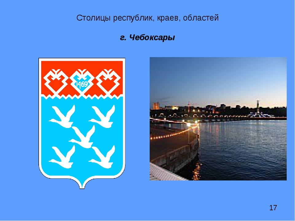 Столицы республик, краев, областей г. Чебоксары