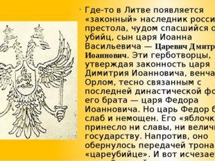 Где-то в Литве появляется «законный» наследник российского престола, чудом сп