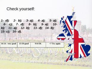 Check yourself: 1- d); 2- b); 3- a); 4- a); 5- a); 6- c); 7- d); 8- b); 9- a