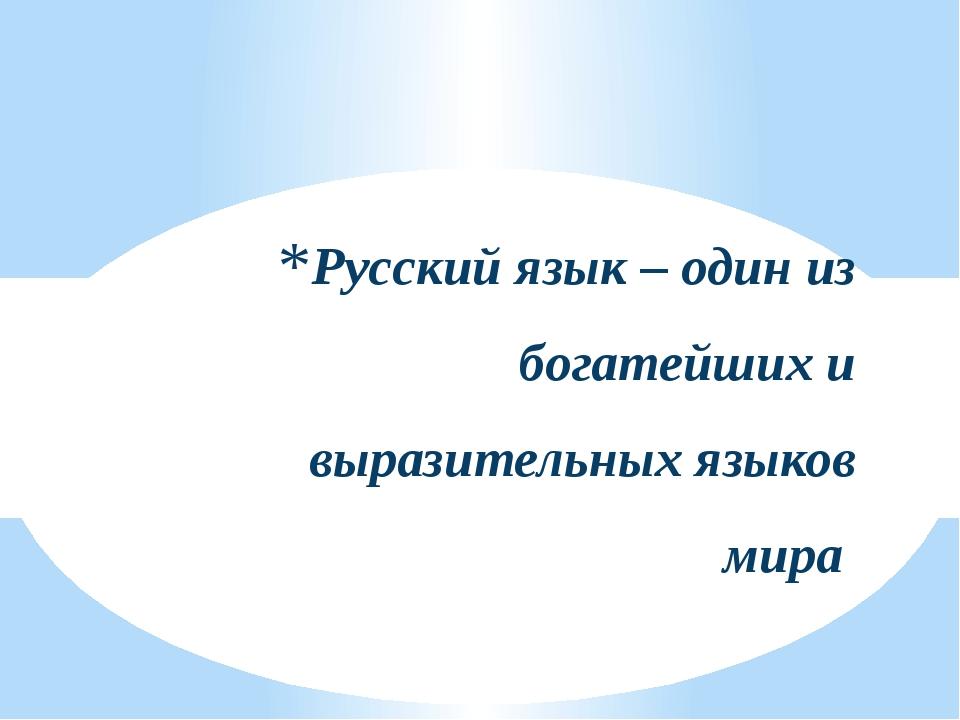 """Русский язык – один из богатейших и выразительных языков мира """"Звездный час"""""""
