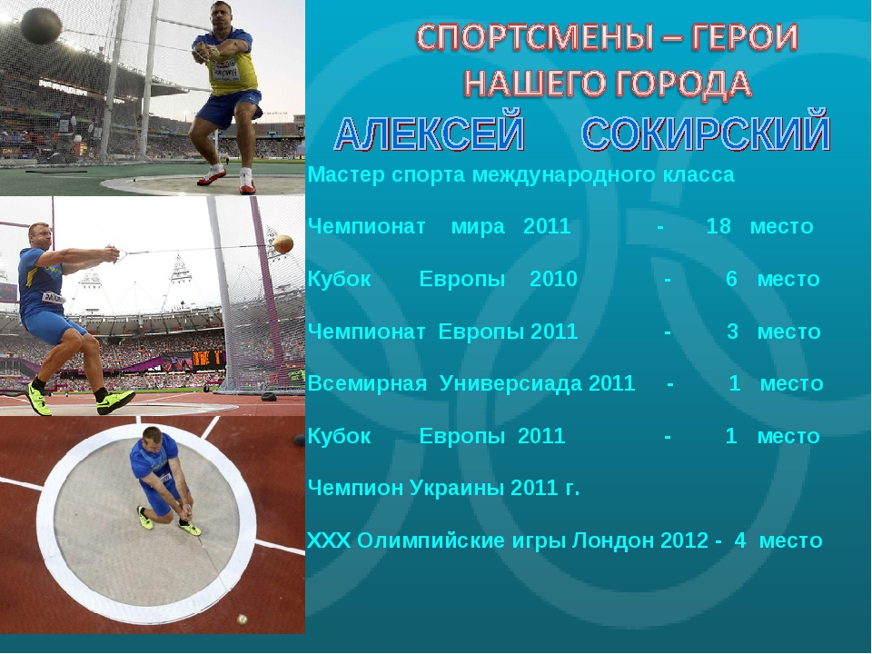 Мастер спорта международного класса Чемпионат мира 2011 - 18 место Кубок Евро...