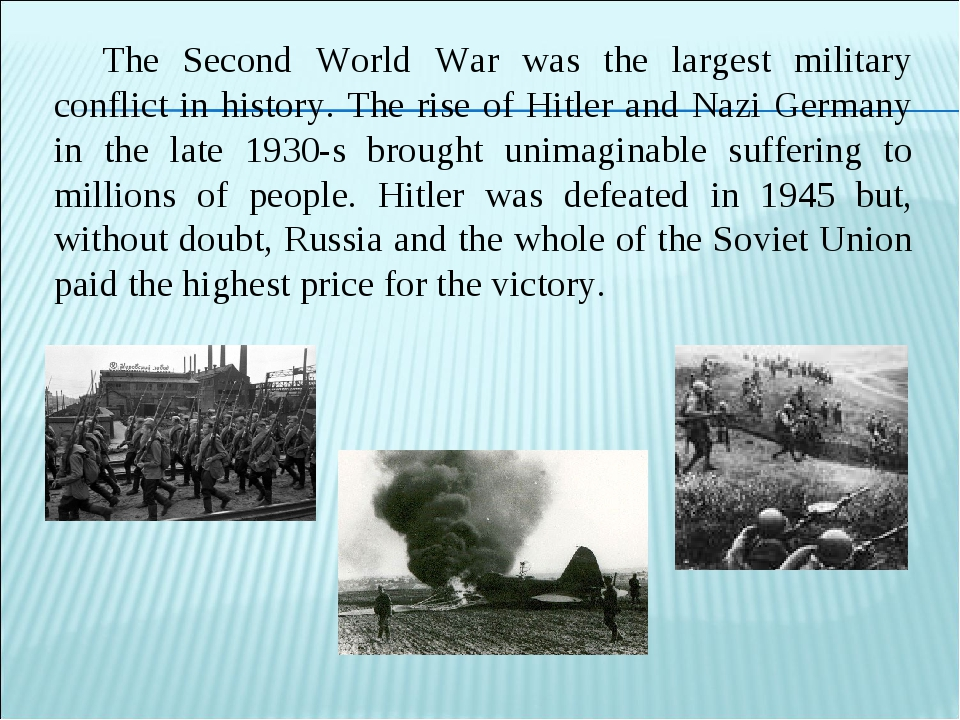 The Second World War was the largest military conflict in history. The rise o...