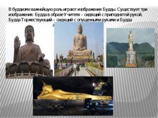 В буддизме важнейшую роль играют изображения Будды. Существует три изображени