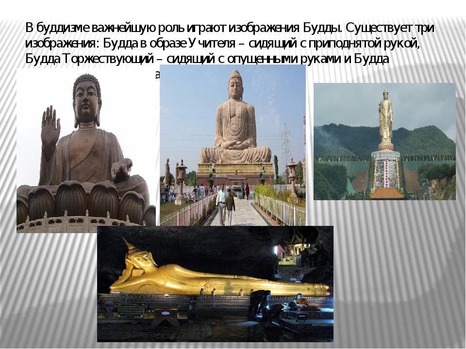 В буддизме важнейшую роль играют изображения Будды. Существует три изображени...