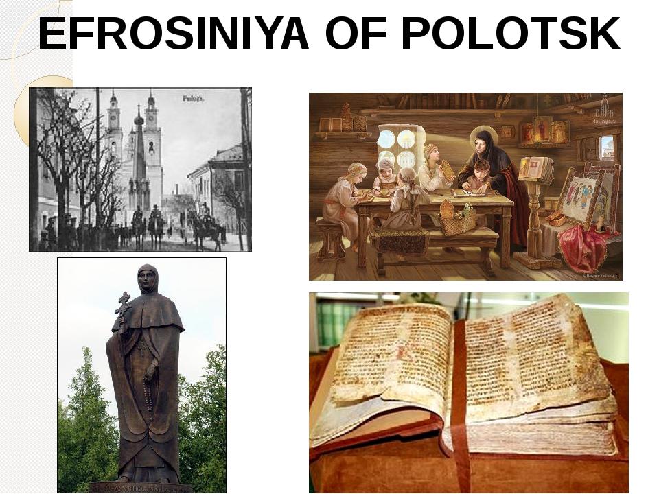 EFROSINIYA OF POLOTSK