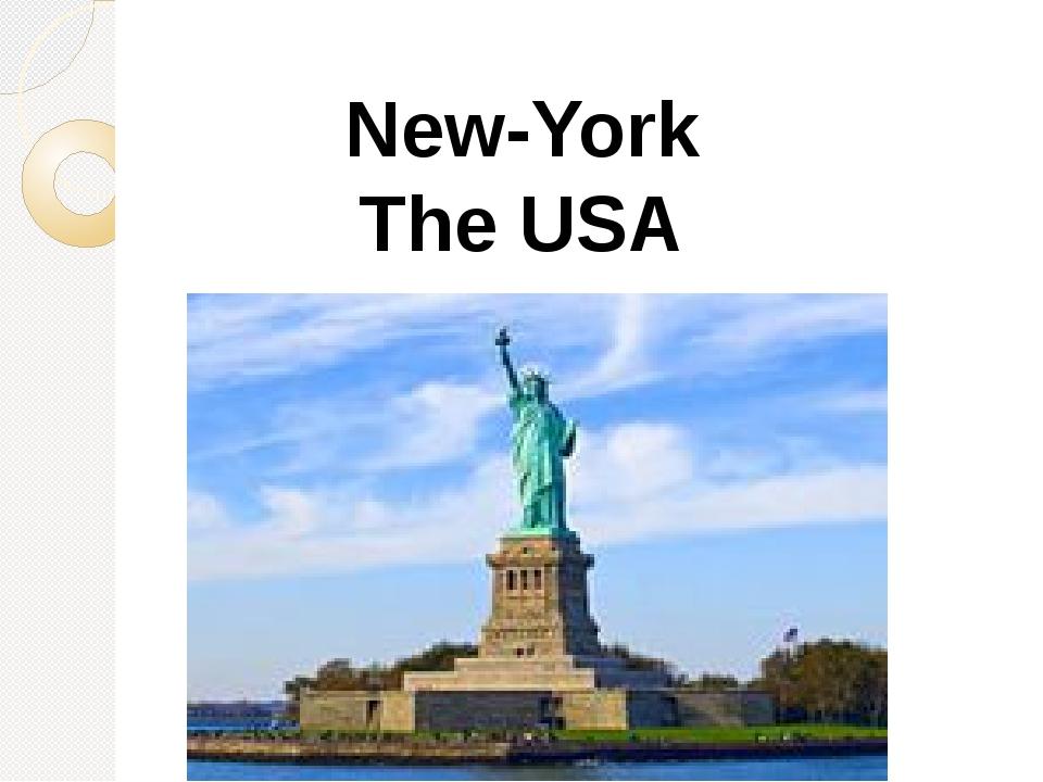 New-York The USA