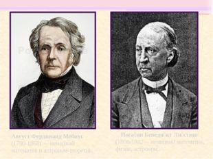 Иога́нн Бенеди́кт Ли́стинг (1808-1882— немецкий математик, физик, астроном. А